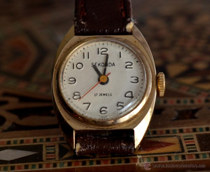RELOJ SEKONDA, MUJER, MECÁNICO, 17 RUBIS, MADE IN USSR (#2) (Relojes - Pulsera Carga Manual)