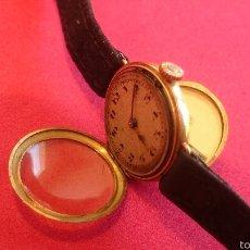 Relojes de pulsera: ANTIGUO RELOJ DE ORO PARA SEÑORA CON DOS APERTURAS. Lote 54781917