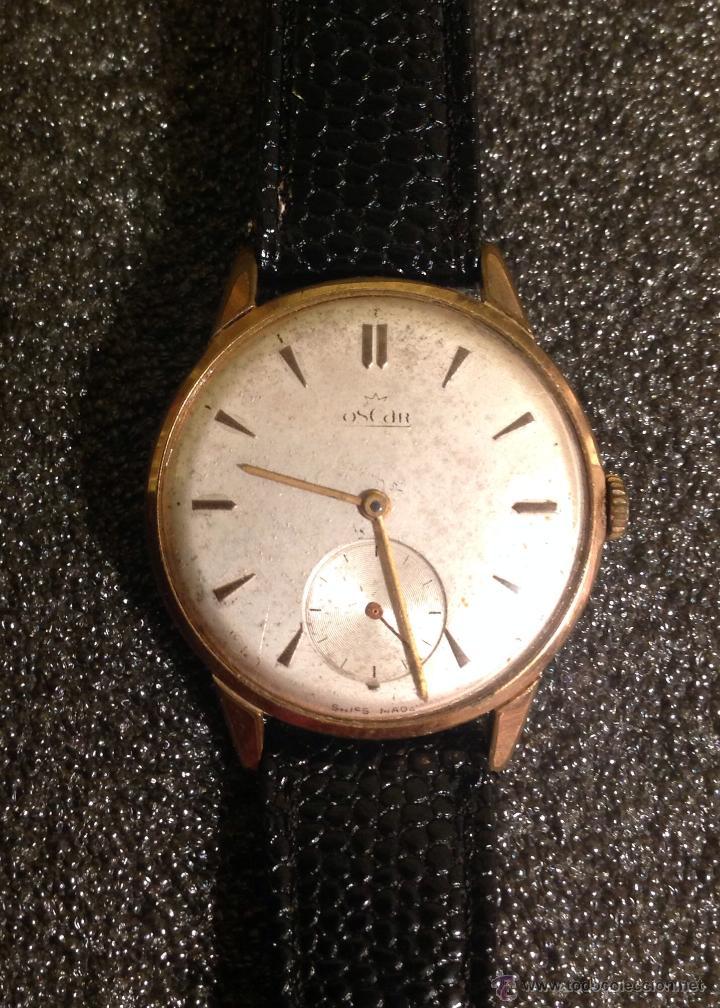 Relojes de pulsera: Reloj Oscar. Movimiento Landeron 523. Usado por Breitling. Funciona. - Foto 2 - 54991659