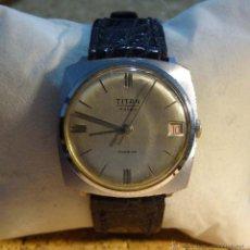 Relojes de pulsera: RELOJ DE PULSERA TITAN A CUERDA - INCABLOC 17 RUBIS. Lote 55037821