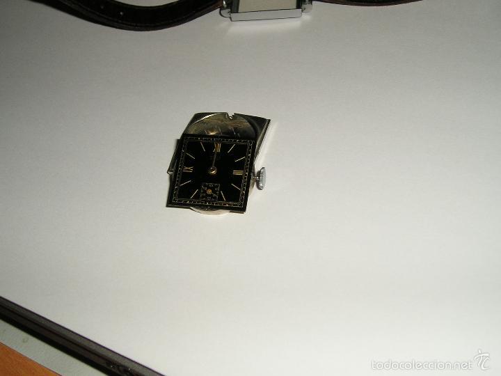 Relojes de pulsera: RELOJ SUIZO CUADRADO DE ACERO 1930, COMO NUEVO - Foto 8 - 49043556