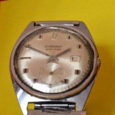 Relojes de pulsera: RELOJ DE PULSERA DIAMANT , VINTAGE, CUERDA. Lote 55230109