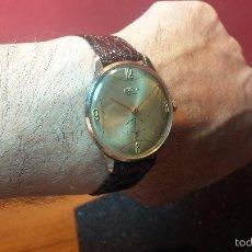 Relojes de pulsera: RELOJ DOGMA VINTAGE DE 15 RUBIS, CHAPADO EN ORO DE 10M, CON CURIOSA ESFERA, AÑOS 50. Lote 156005665