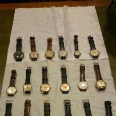 Relojes de pulsera: 18 RELOJES DE PULSERA A CUERDA DE COLECCION ,GIRARDOT PERREGAUX ,LONGINES, HERMES ETC. Lote 55554471