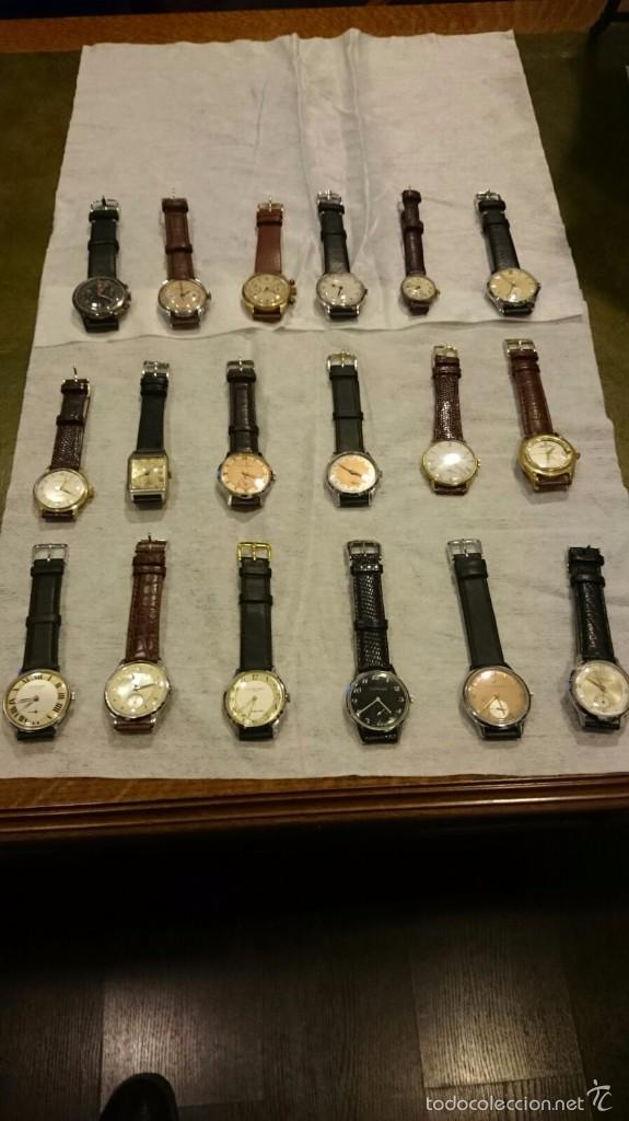 Relojes de pulsera: 18 RELOJES DE PULSERA a CUERDA DE COLECCION ,Girardot Perregaux ,Longines, Hermes etc - Foto 2 - 55554471