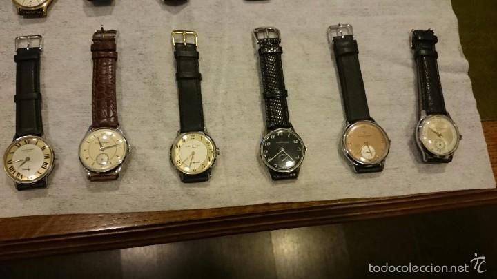 Relojes de pulsera: 18 RELOJES DE PULSERA a CUERDA DE COLECCION ,Girardot Perregaux ,Longines, Hermes etc - Foto 3 - 55554471