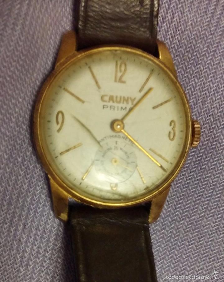 RELOJ ANTIGUO DE CUERDA CAUNY PRIMA DE LUXE 15RUBIS BAÑO ORO 10MICRONS ( Relojes - Pulsera 2ec7d2902580