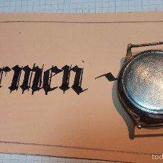 Relojes de pulsera: RELOJ CAUNY LA CHAUX DE FONS GRANDE DE HOMBRE MUY ANTIGUO ANTIQUISIMO, PARA REPARAR, NO ANDA. Lote 166346132