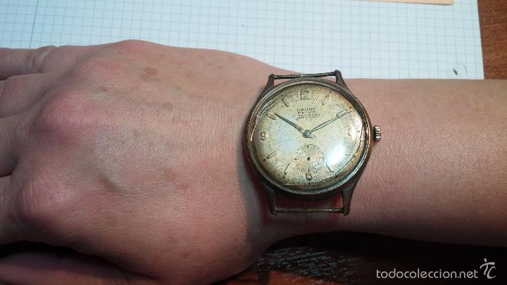 Relojes de pulsera: Reloj Cauny La Chaux de Fons grande de hombre MUY ANTIGUO antiquisimo, para reparar, no anda - Foto 2 - 166346132