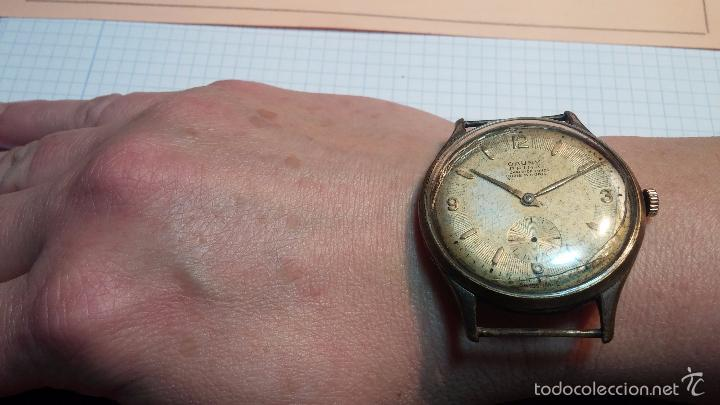 Relojes de pulsera: Reloj Cauny La Chaux de Fons grande de hombre MUY ANTIGUO antiquisimo, para reparar, no anda - Foto 3 - 166346132