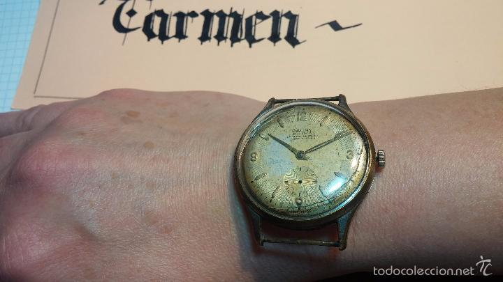 Relojes de pulsera: Reloj Cauny La Chaux de Fons grande de hombre MUY ANTIGUO antiquisimo, para reparar, no anda - Foto 4 - 166346132