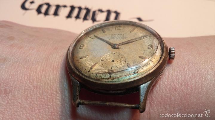 Relojes de pulsera: Reloj Cauny La Chaux de Fons grande de hombre MUY ANTIGUO antiquisimo, para reparar, no anda - Foto 5 - 166346132
