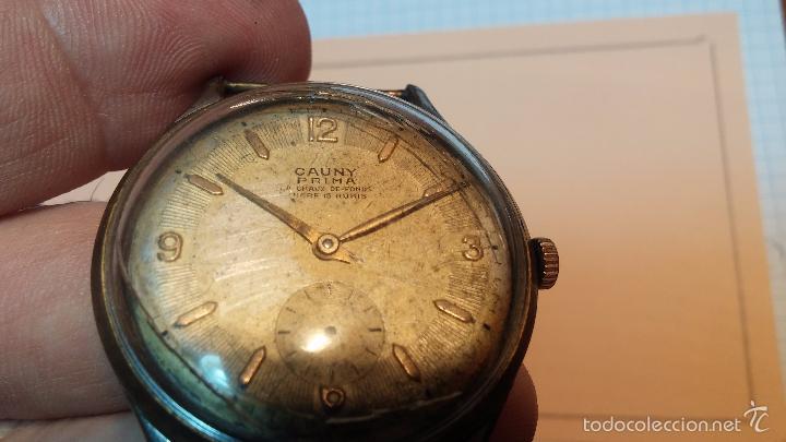 Relojes de pulsera: Reloj Cauny La Chaux de Fons grande de hombre MUY ANTIGUO antiquisimo, para reparar, no anda - Foto 8 - 166346132