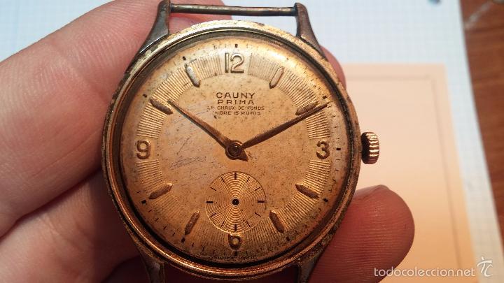 Relojes de pulsera: Reloj Cauny La Chaux de Fons grande de hombre MUY ANTIGUO antiquisimo, para reparar, no anda - Foto 9 - 166346132