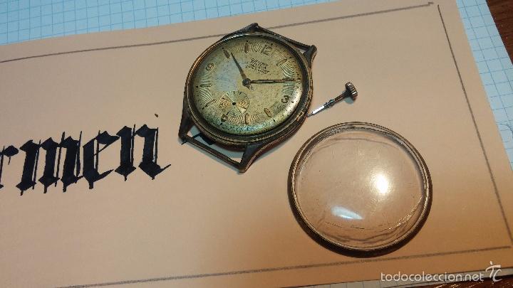 Relojes de pulsera: Reloj Cauny La Chaux de Fons grande de hombre MUY ANTIGUO antiquisimo, para reparar, no anda - Foto 11 - 166346132