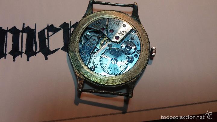 Relojes de pulsera: Reloj Cauny La Chaux de Fons grande de hombre MUY ANTIGUO antiquisimo, para reparar, no anda - Foto 16 - 166346132