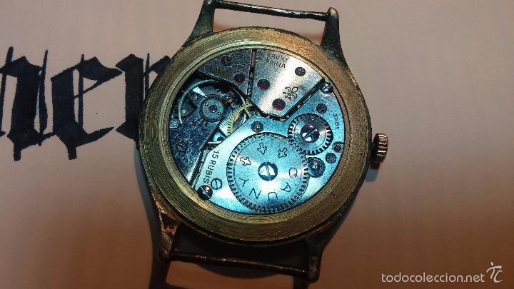 Relojes de pulsera: Reloj Cauny La Chaux de Fons grande de hombre MUY ANTIGUO antiquisimo, para reparar, no anda - Foto 19 - 166346132
