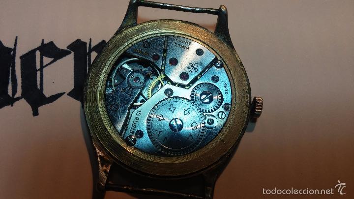 Relojes de pulsera: Reloj Cauny La Chaux de Fons grande de hombre MUY ANTIGUO antiquisimo, para reparar, no anda - Foto 20 - 166346132