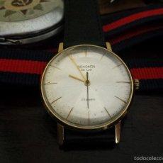 Relojes de pulsera: RELOJ RUSO SEKONDA 1975 MOVIMIENTO ULTRA PLANO POLJOT 2209 23 JOYAS CHAPADO EN ORO AU20. Lote 56052940