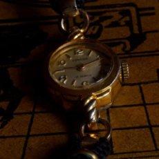 Relojes de pulsera: RELOJ DE PULSERA VINTAGE SUIZO MARCA CORONA , MUJER, CHAPADO EN ORO 20 MICRONES, CUERDA. Lote 56127014