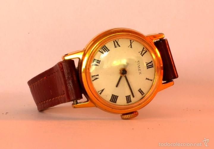 RELOJ DE PULSERA TIMEX, VINTAGE, CUERDA, MUJER, ESFERA NÚMEROS ROMANOS (#10) (Relojes - Pulsera Carga Manual)