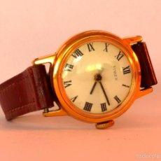 Relojes de pulsera: RELOJ DE PULSERA TIMEX, VINTAGE, CUERDA, MUJER, ESFERA NÚMEROS ROMANOS (#10). Lote 56306738