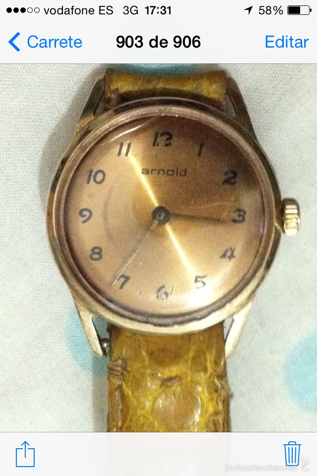 RELOJ ARNOLD CUERDA (Relojes - Pulsera Carga Manual)