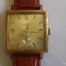 Relojes de pulsera: RELOJ CABALLERO CUADRADO DE CUERDA, RUBENS - PRIMA 27 ANTIMAGNETIG. Lote 56378831