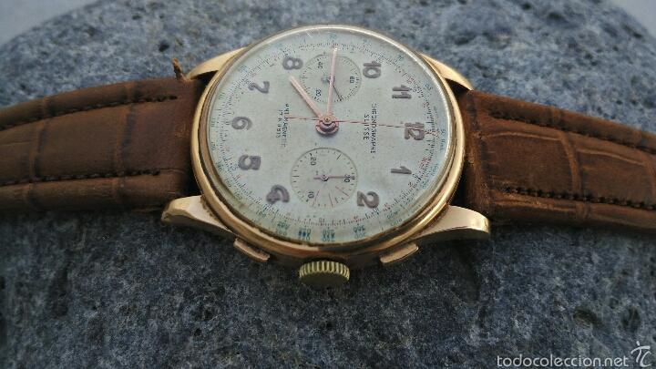 CRONOGRAFO CHONOGRAPHE SUISSE 18 KT (Relojes - Pulsera Carga Manual)