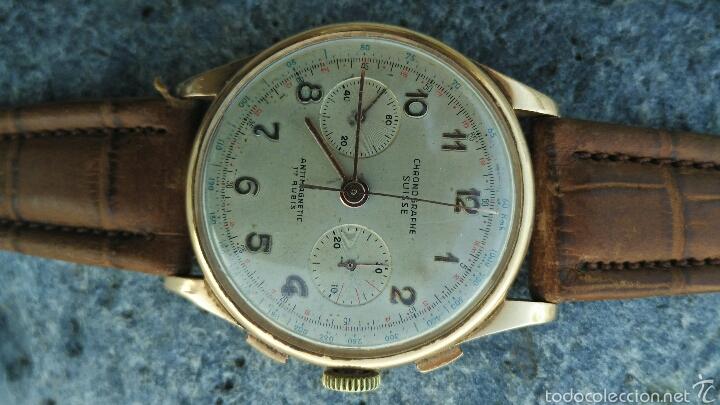 Relojes de pulsera: Cronografo Chonographe Suisse 18 kt - Foto 3 - 56402094