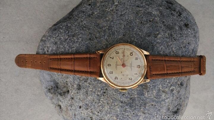 Relojes de pulsera: Cronografo Chonographe Suisse 18 kt - Foto 4 - 56402094