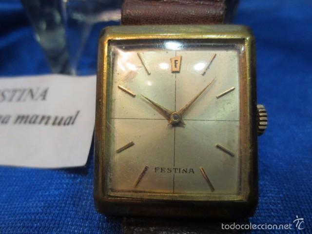 Relojes de pulsera: RELOJ DE PULSERA CUADRADO MARCA FESTINA - Foto 2 - 56426848