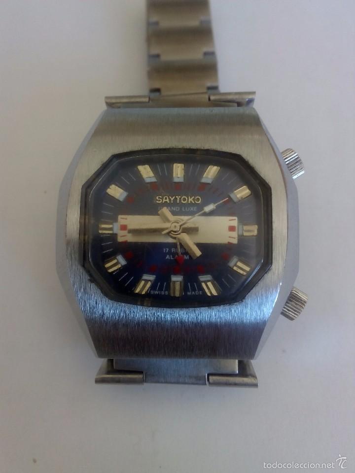 RELOJ SAYTOKO CON ALARMA (Relojes - Pulsera Carga Manual)