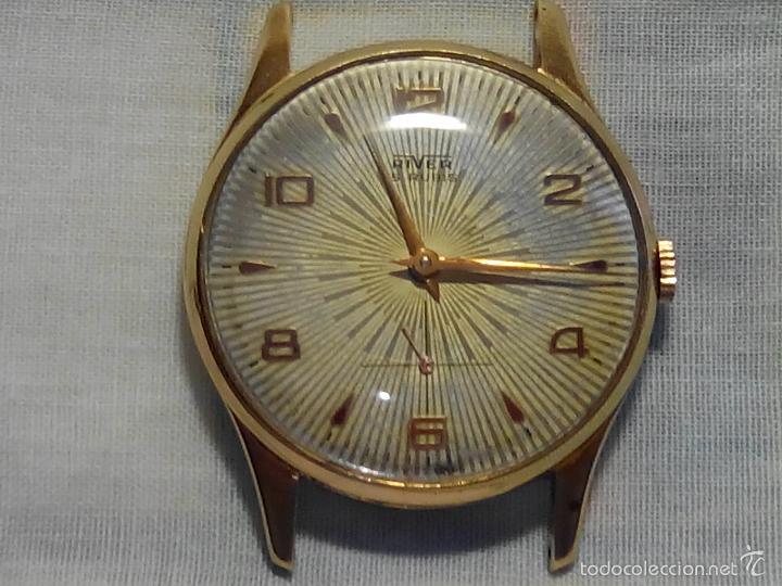 ANTIGUO RIVER SUIZO - AÑOS 50. FUNCIONANDO BIEN. 38 MM. C/C. LLEVA CORREA. FOTOS VARIAS. (Relojes - Pulsera Carga Manual)