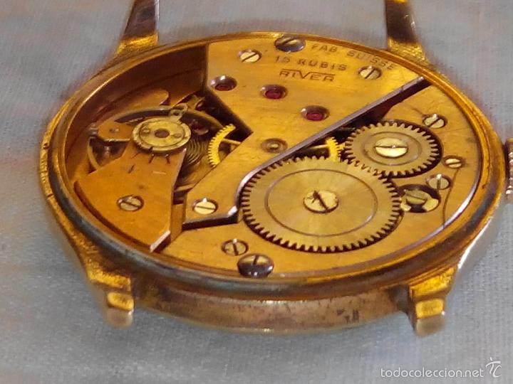 Relojes de pulsera: ANTIGUO RIVER SUIZO - AÑOS 50. FUNCIONANDO BIEN. 38 MM. C/C. LLEVA CORREA. FOTOS VARIAS. - Foto 5 - 56498852