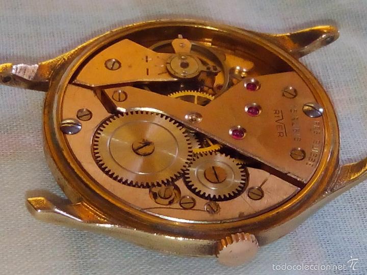 Relojes de pulsera: ANTIGUO RIVER SUIZO - AÑOS 50. FUNCIONANDO. CARGA MANUAL. TODO ORIGINAL. 38 MM. FOTOS INTER/EXTERIOR - Foto 9 - 56498852