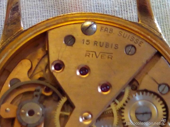 Relojes de pulsera: ANTIGUO RIVER SUIZO - AÑOS 50. FUNCIONANDO BIEN. 38 MM. C/C. LLEVA CORREA. FOTOS VARIAS. - Foto 6 - 56498852