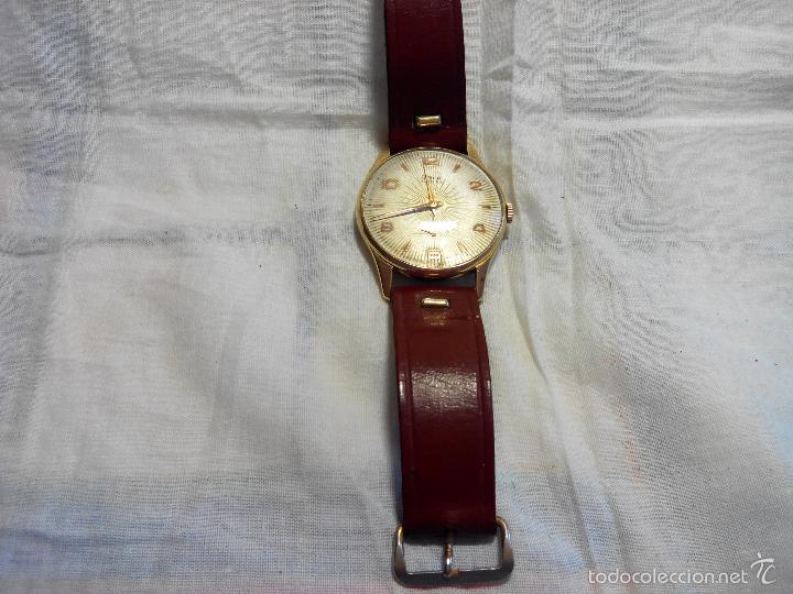Relojes de pulsera: ANTIGUO RIVER SUIZO - AÑOS 50. FUNCIONANDO BIEN. 38 MM. C/C. LLEVA CORREA. FOTOS VARIAS. - Foto 7 - 56498852