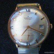 Relojes de pulsera: RELOJ MARCA RADIANT DE CUERDA, 17 RUBIS. Lote 56598374