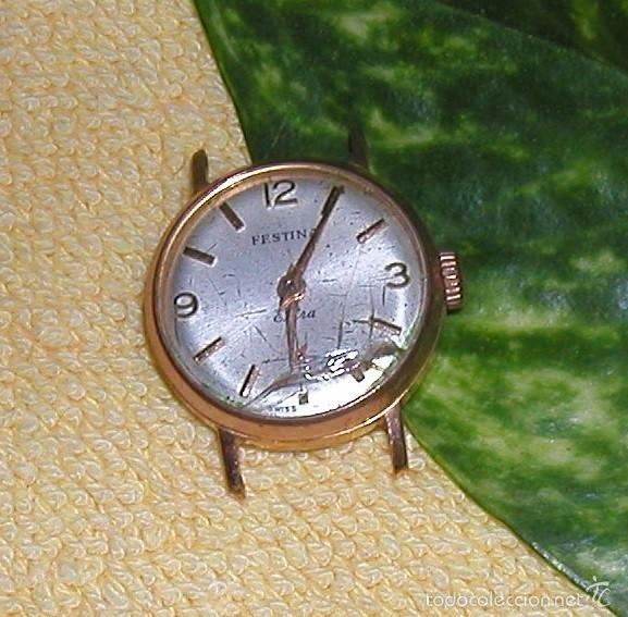 Relojes de pulsera: RELOJ FESTINA EXTRA SWISS MADE DÉCADA 50-60 PARA MUJER CHAPADO EN ORO VINTAGE - Foto 2 - 56719085