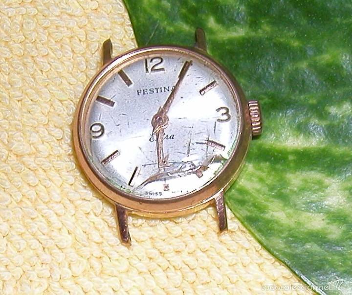 Relojes de pulsera: RELOJ FESTINA EXTRA SWISS MADE DÉCADA 50-60 PARA MUJER CHAPADO EN ORO VINTAGE - Foto 3 - 56719085