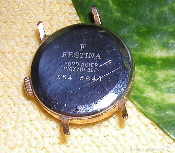 Relojes de pulsera: RELOJ FESTINA EXTRA SWISS MADE DÉCADA 50-60 PARA MUJER CHAPADO EN ORO VINTAGE - Foto 4 - 56719085
