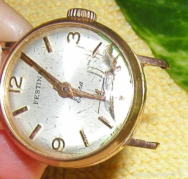 Relojes de pulsera: RELOJ FESTINA EXTRA SWISS MADE DÉCADA 50-60 PARA MUJER CHAPADO EN ORO VINTAGE - Foto 5 - 56719085