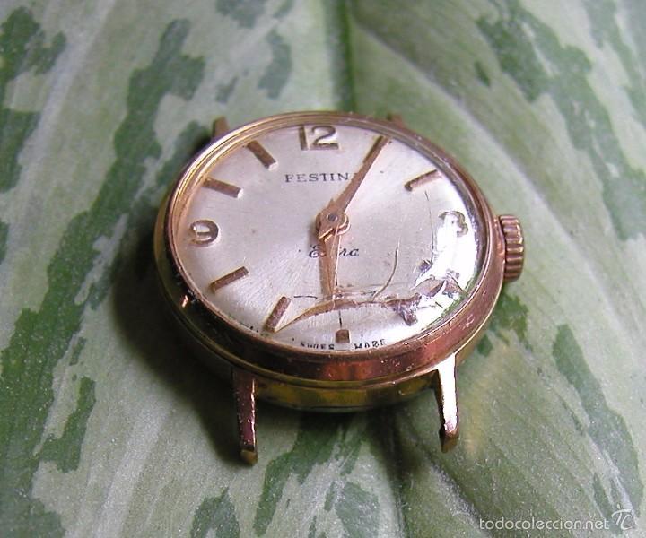 Relojes de pulsera: RELOJ FESTINA EXTRA SWISS MADE DÉCADA 50-60 PARA MUJER CHAPADO EN ORO VINTAGE - Foto 7 - 56719085