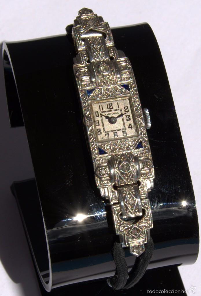 Reloj Antiguo Art Deco Oro 18k Platino Zafiros Comprar
