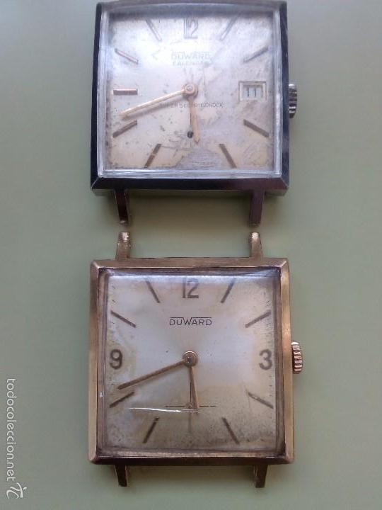DOS RELOJES CUADRADOS DUWARD (Relojes - Pulsera Carga Manual)