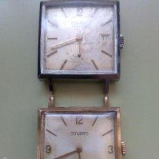 Relojes de pulsera: DOS RELOJES CUADRADOS DUWARD. Lote 57088860