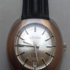 Relojes de pulsera: RELOJ VINTAGE DE CABALLERO. MARCA SAVAR. INCABLOC. FUNCIONANDO.. Lote 57255389