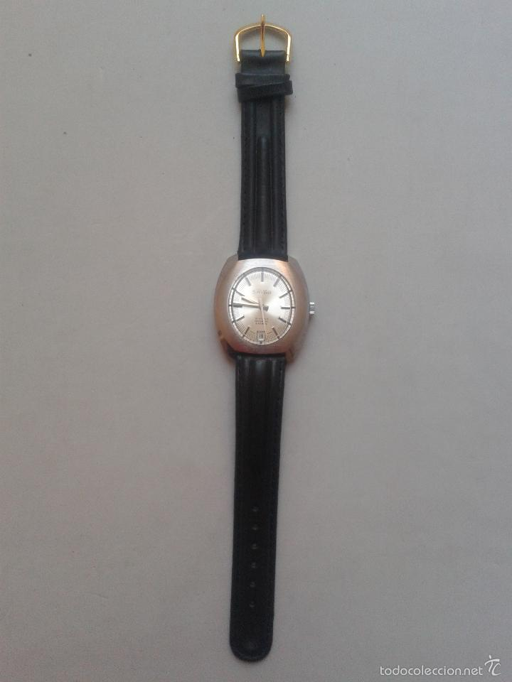 Relojes de pulsera: Reloj Vintage de Caballero. Marca Savar. Incabloc. Funcionando. - Foto 2 - 57255389