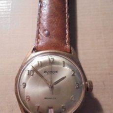 Relojes de pulsera: ANTIGUO RELOJ DE CUERDA MANUAL CHAPADO AÑOS 60/70 - MARCA AURORE WATCH INCABLOC E. BAUCHE SUISSE . Lote 57308691